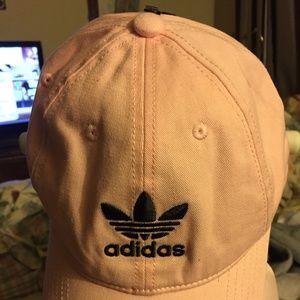 NWT, adidas adjustable baseball cap, PINK COLOR